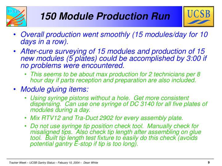 150 Module Production Run