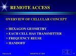 remote access60