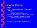 canadian planning