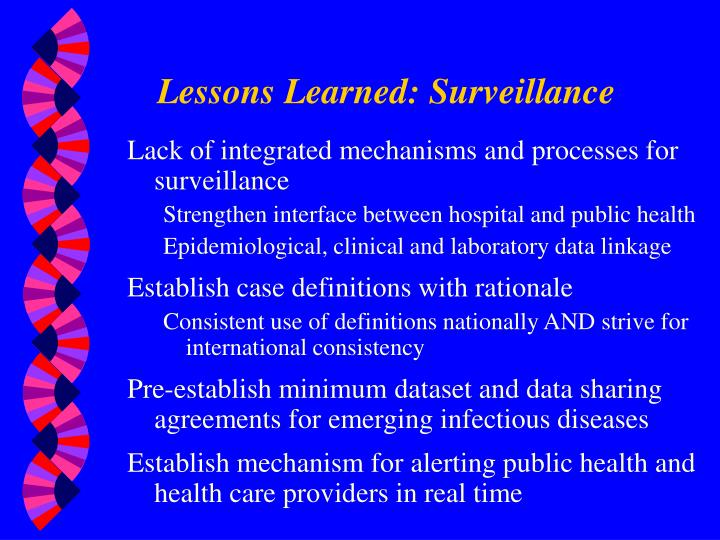 Lessons Learned: Surveillance