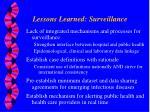 lessons learned surveillance