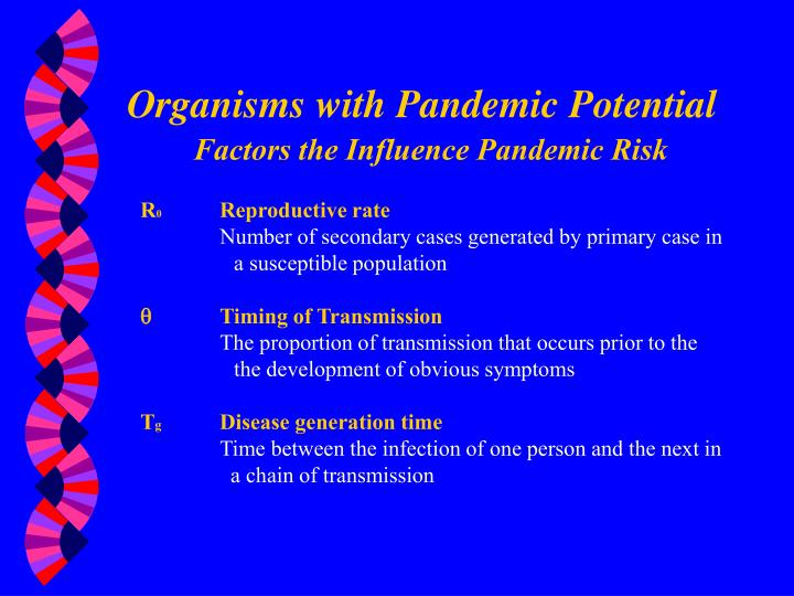 Organisms with Pandemic Potential