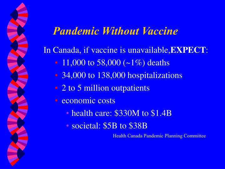 Pandemic Without Vaccine