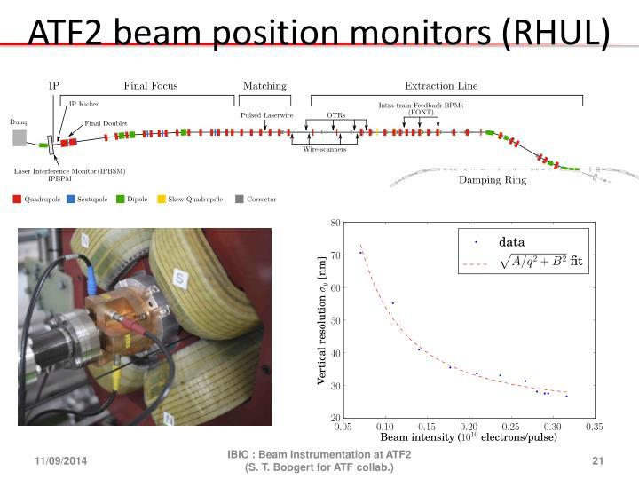 ATF2 beam position monitors (RHUL)