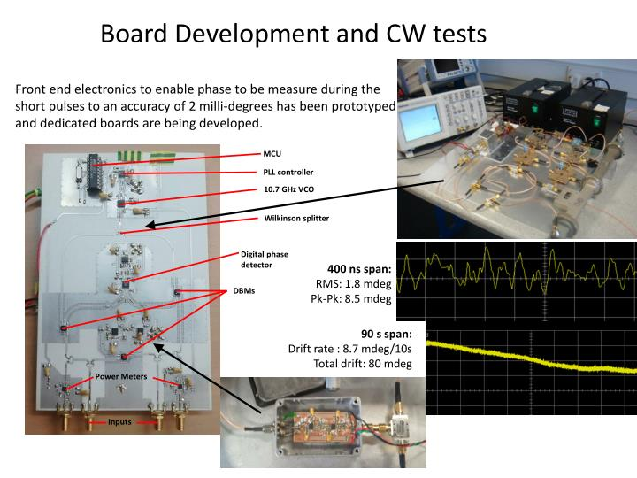 Board Development and CW tests