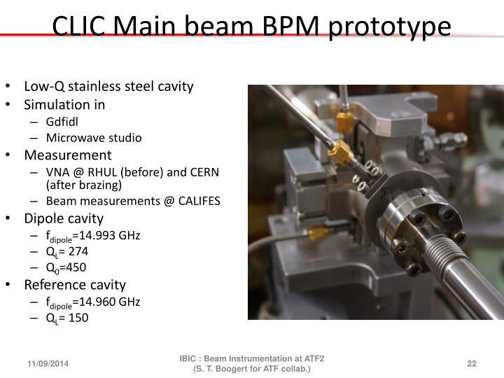 CLIC Main beam BPM prototype