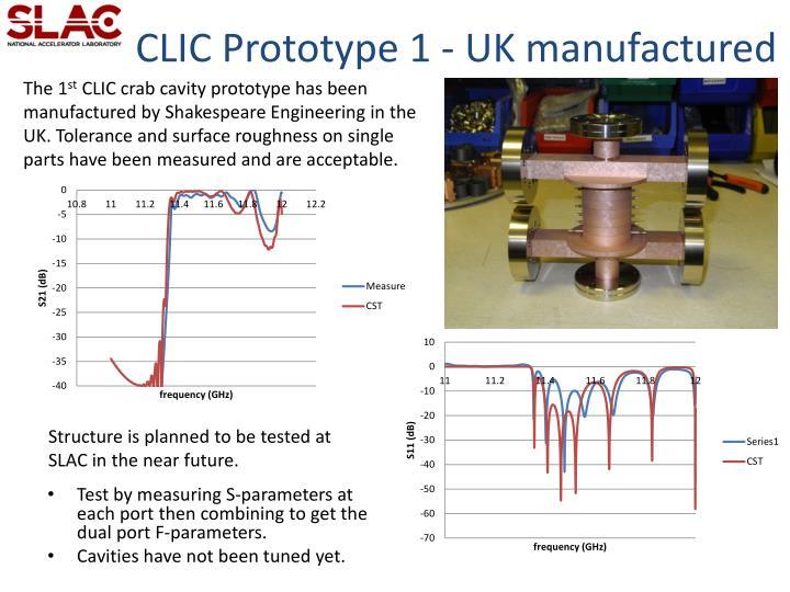 CLIC Prototype 1 - UK manufactured