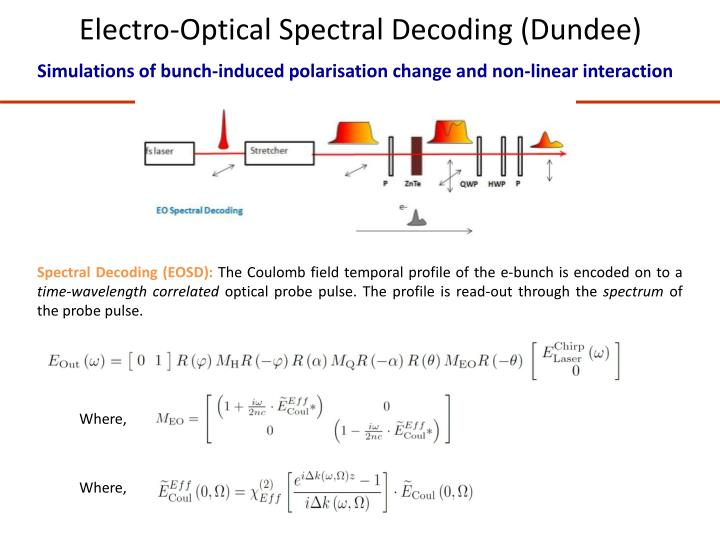 Electro-Optical Spectral Decoding (Dundee)