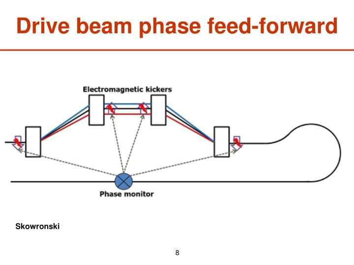 Drive beam phase feed-forward