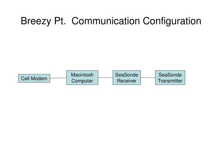 Breezy Pt.  Communication Configuration