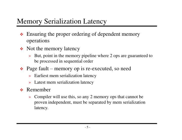 Memory Serialization Latency
