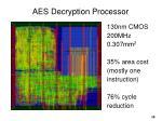 aes decryption processor