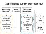 application to custom processor flow