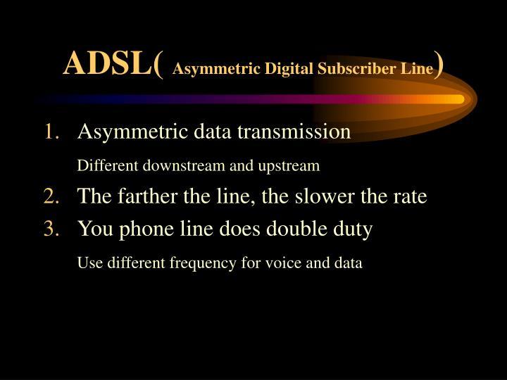 ADSL(