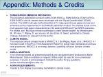 appendix methods credits