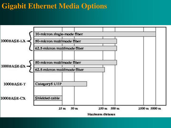 Gigabit Ethernet Media Options