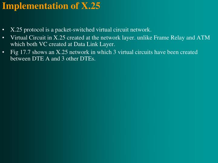 Implementation of X.25
