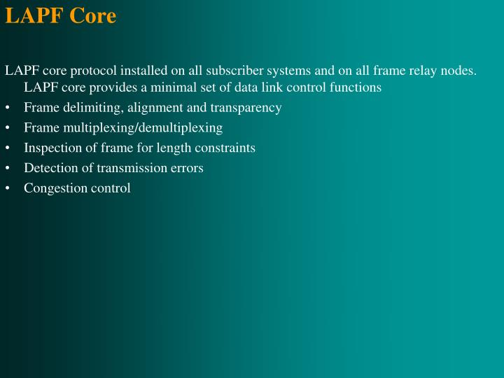 LAPF Core
