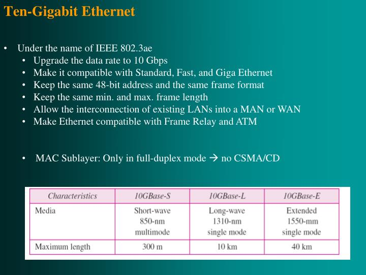 Ten-Gigabit Ethernet