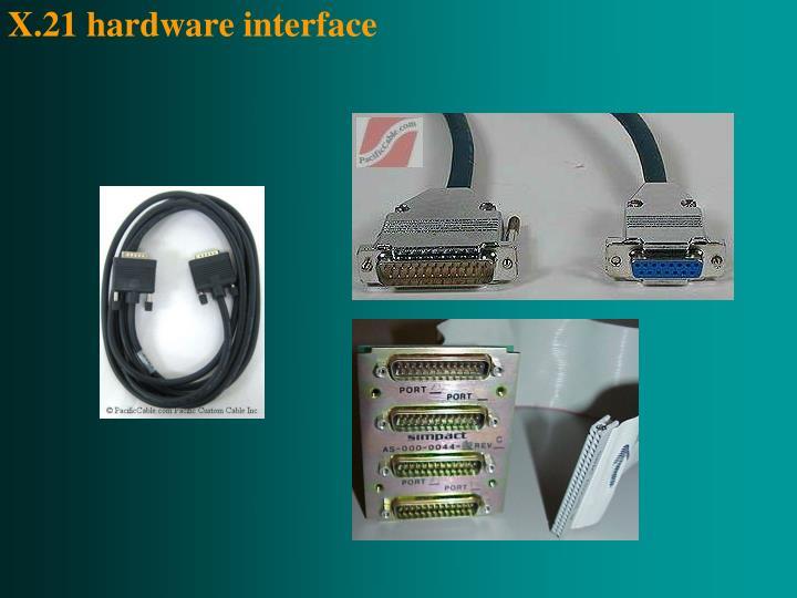 X.21 hardware interface