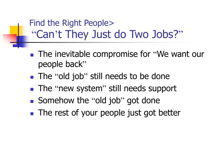Find the Right People>
