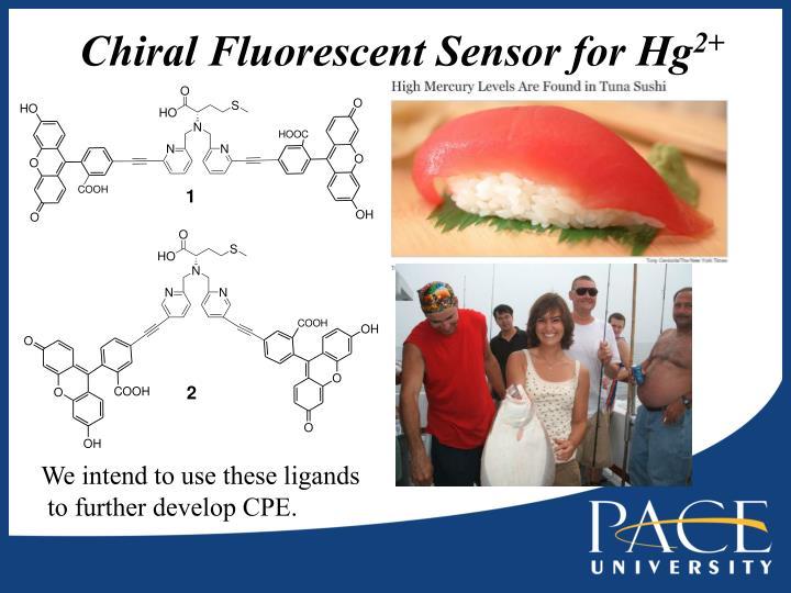 Chiral Fluorescent Sensor for Hg