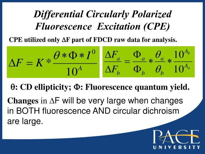 Differential Circularly Polarized Fluorescence  Excitation (CPE)