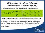 differential circularly polarized fluorescence excitation cpe