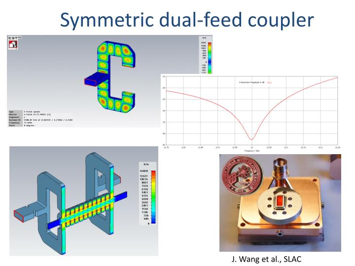 Symmetric dual-feed coupler
