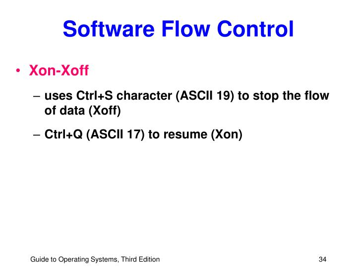 Software Flow Control