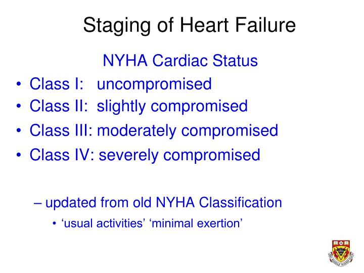 Staging of Heart Failure