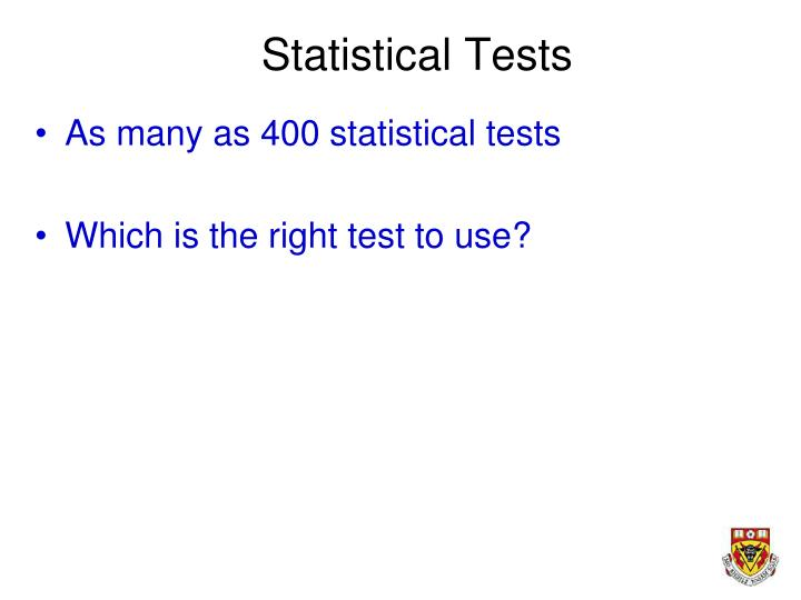 Statistical Tests