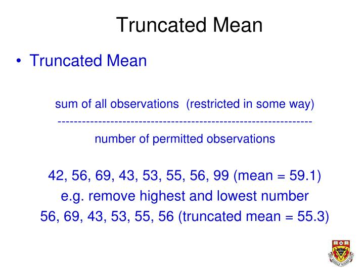 Truncated Mean