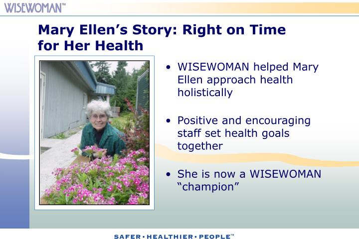 Mary Ellen's Story: Right on Time for Her Health