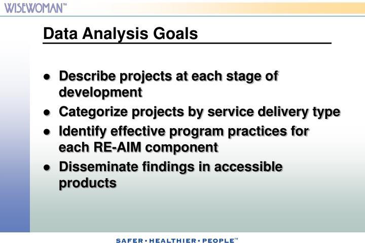 Data Analysis Goals