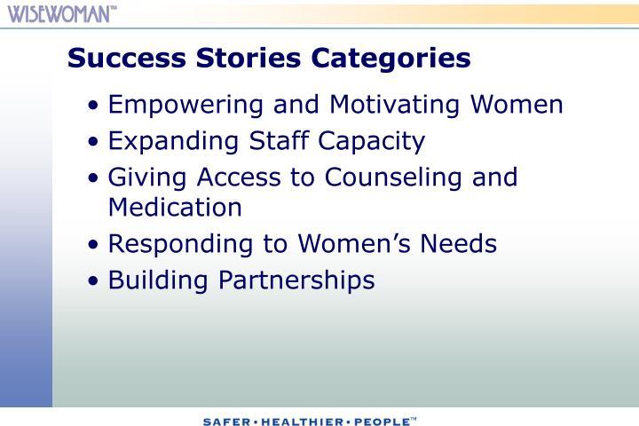 Success Stories Categories