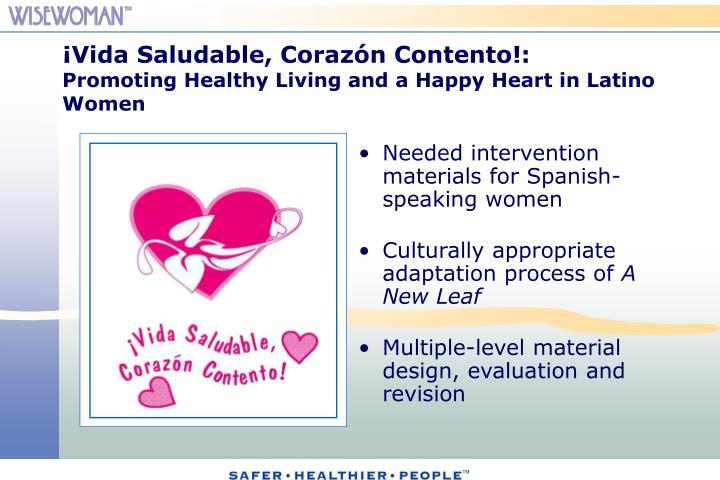 ¡Vida Saludable, Corazón Contento!