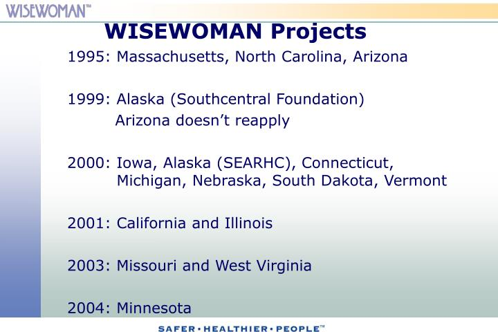 WISEWOMAN Projects