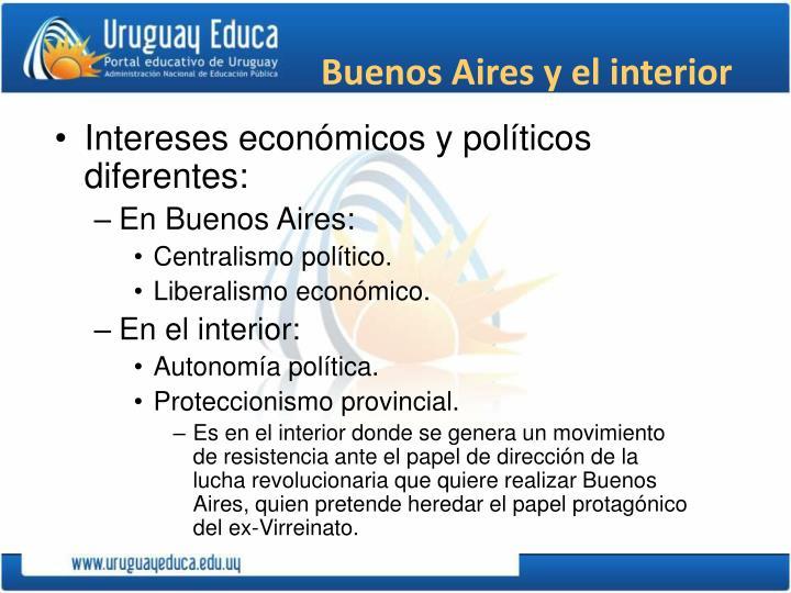 Buenos Aires y el interior