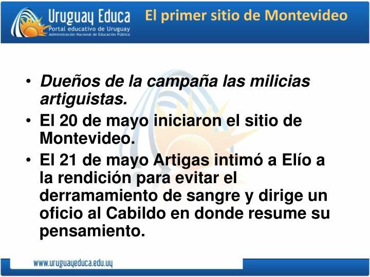 El primer sitio de Montevideo
