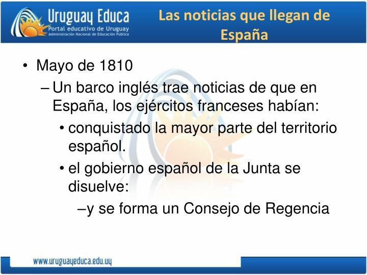 Las noticias que llegan de España