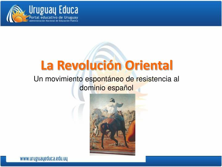 Un movimiento espontáneo de resistencia al dominio español