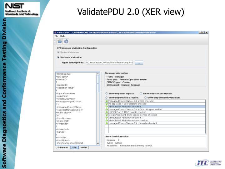 ValidatePDU 2.0 (XER view)