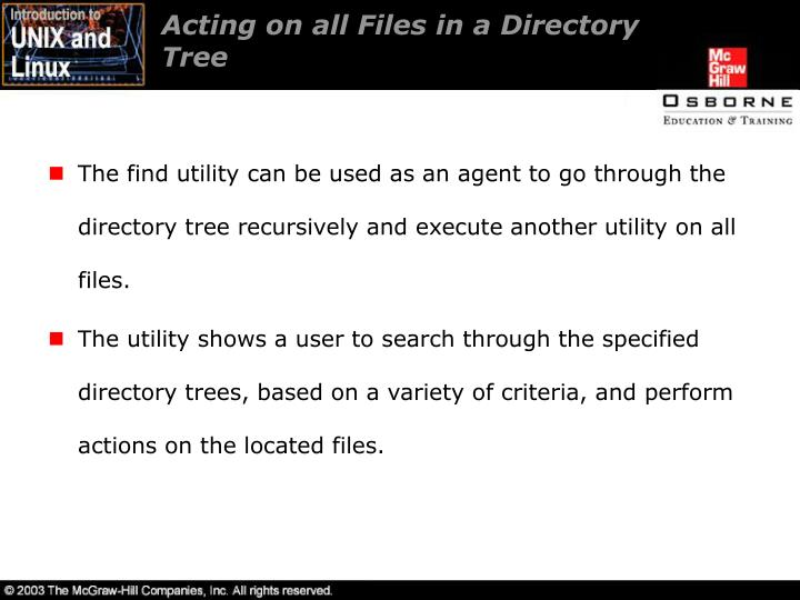 Acting on all Files in a Directory
