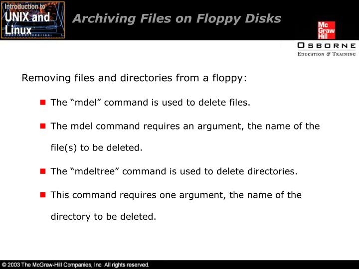 Archiving Files on Floppy Disks