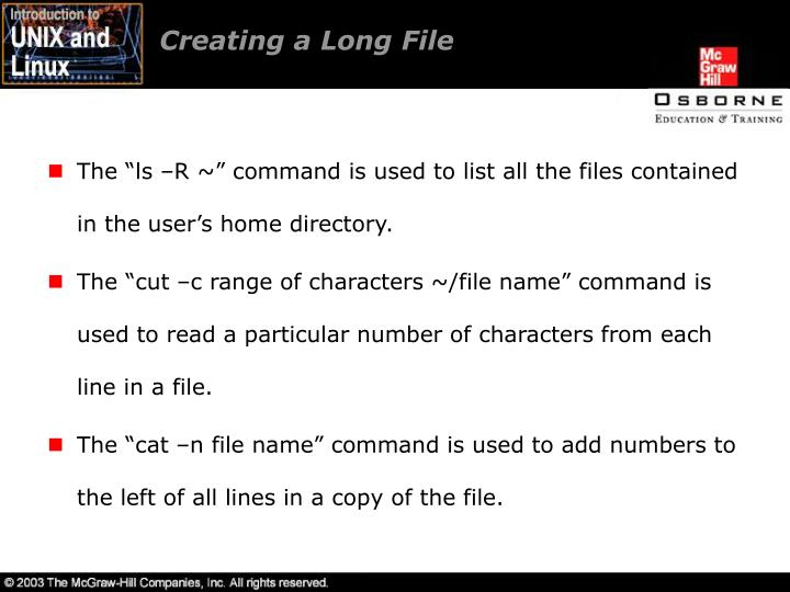 Creating a Long File