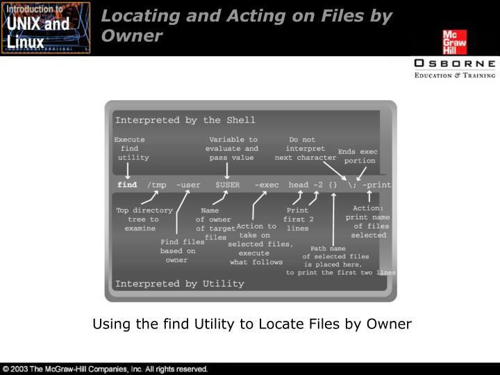 Locating and Acting on Files by