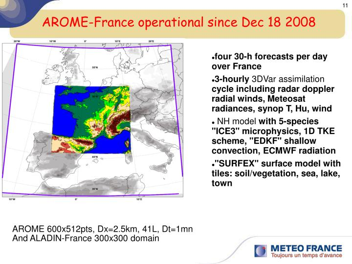 AROME-France operational since Dec 18 2008