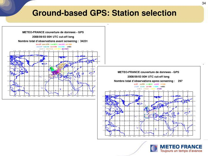 Ground-based GPS: Station selection