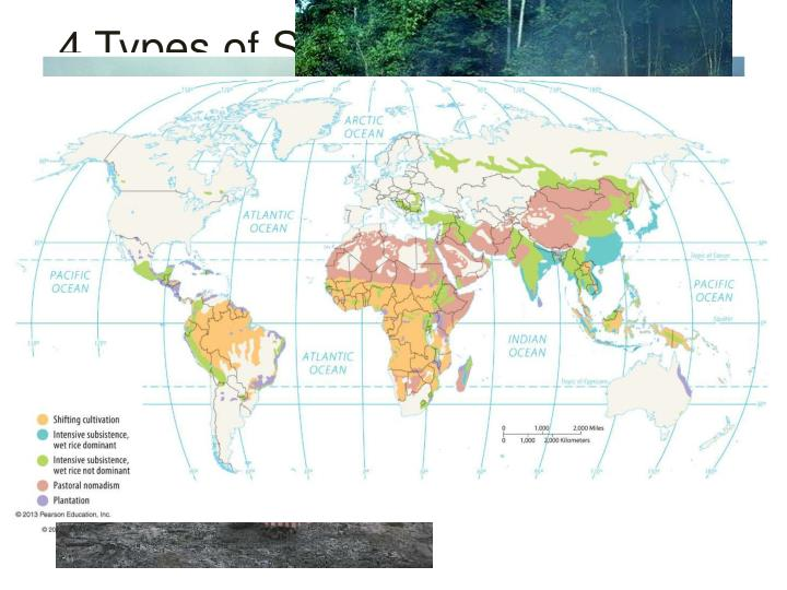 4 Types of Subsistence Agriculture Regions